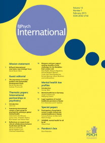 Highlights of February's issue of International Psychiatry