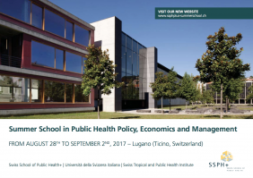 Registrations for the Summer School in Public Health Policy, Economics and Management, in Lugano are now open!